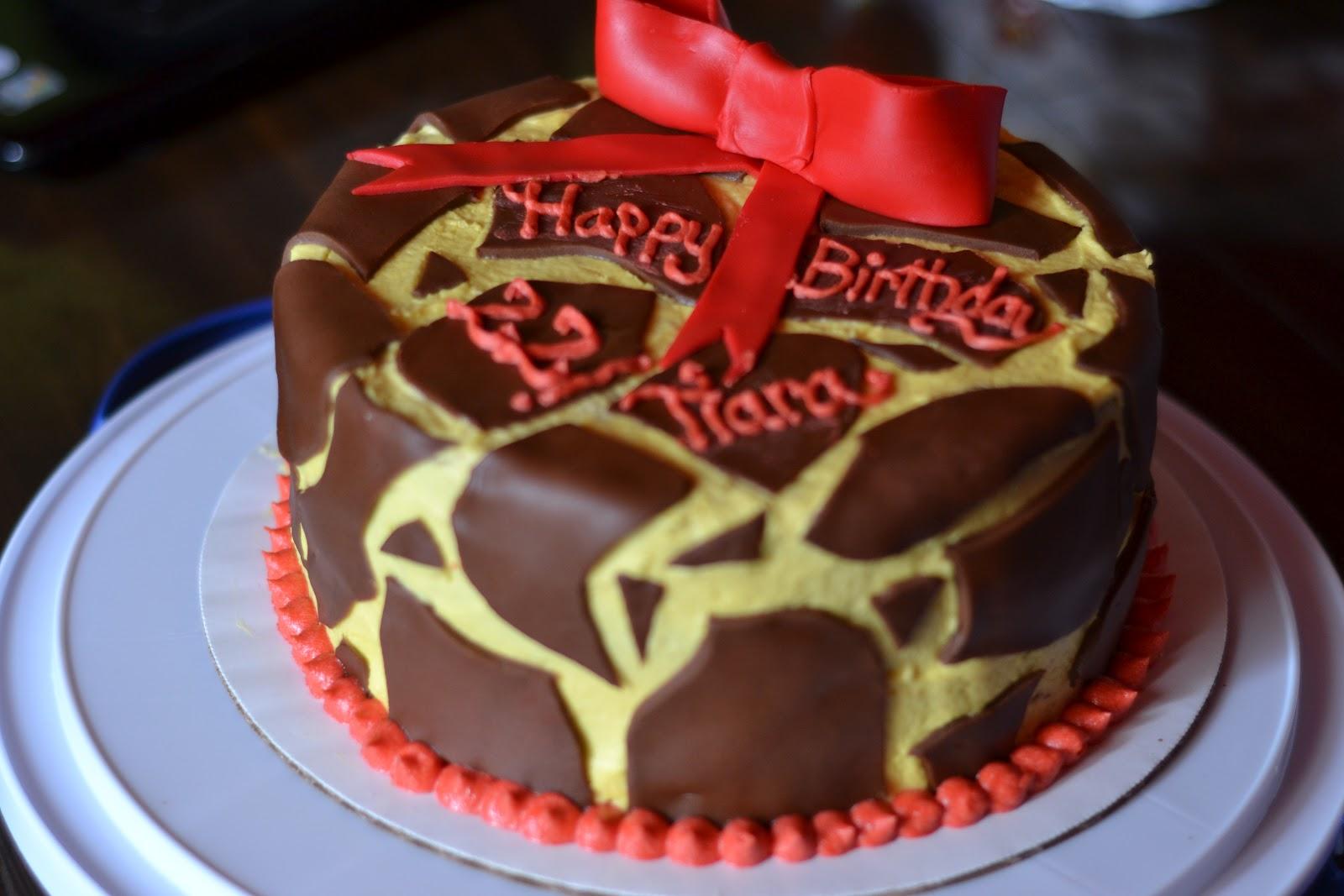 Giraffe Print Birthday Cake Sweet Tees Cupcakes