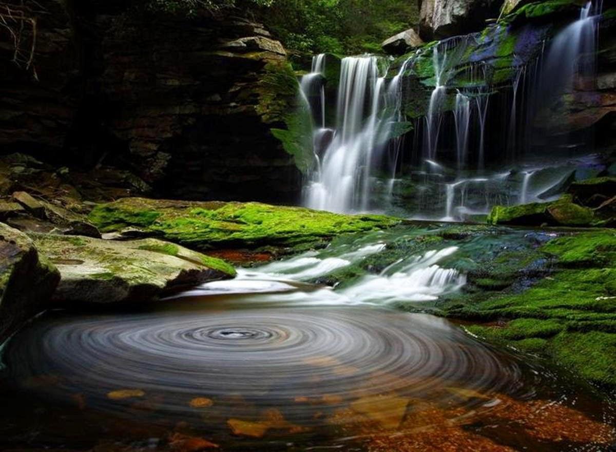 Gambar Air Terjun Terbaik Pemandangan Alam Indah Wallaper Lukisan