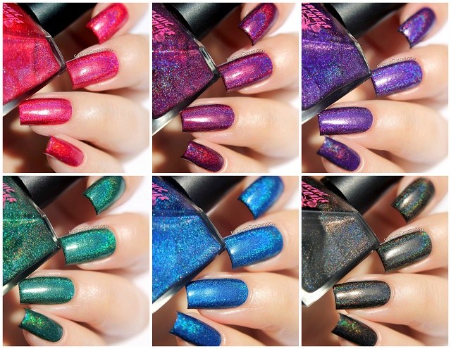 Superchic Lacquer Dreamology Collection One Coat Linear Holo Swatches And Review