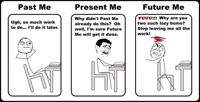 Past Me - Present Me - Future Me - Homework