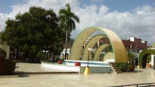 Concha del Parque José Martí, en Guantánamo, Cuba