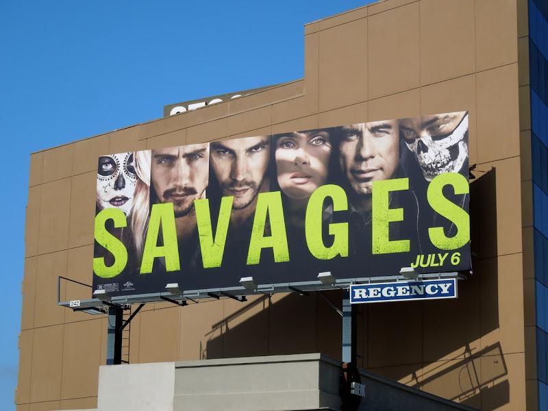 Savages film billboard