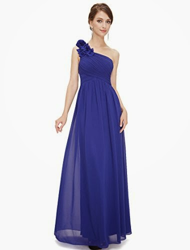 One Shoulder Long Bridesmaid Party Dress