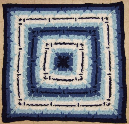 In-the-round Square Navajo Lap Blanket - Free Pattern
