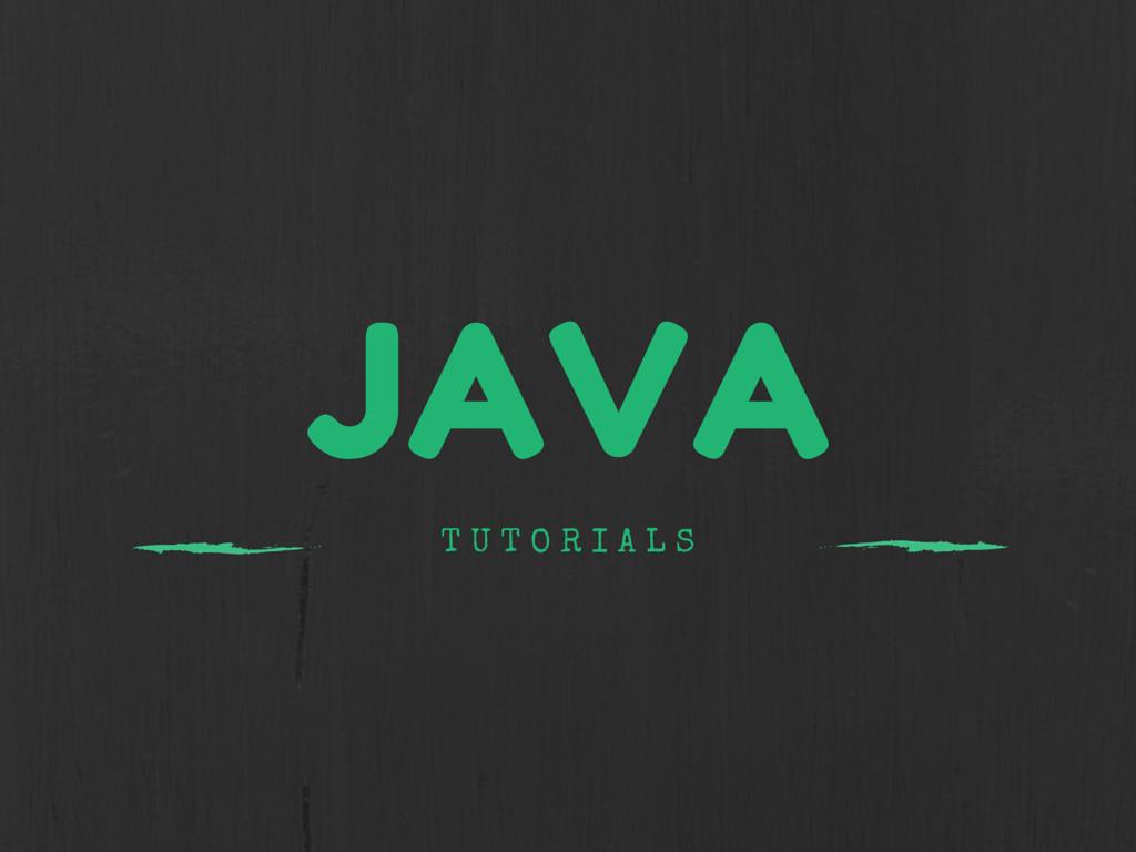 Best Java Tutorials