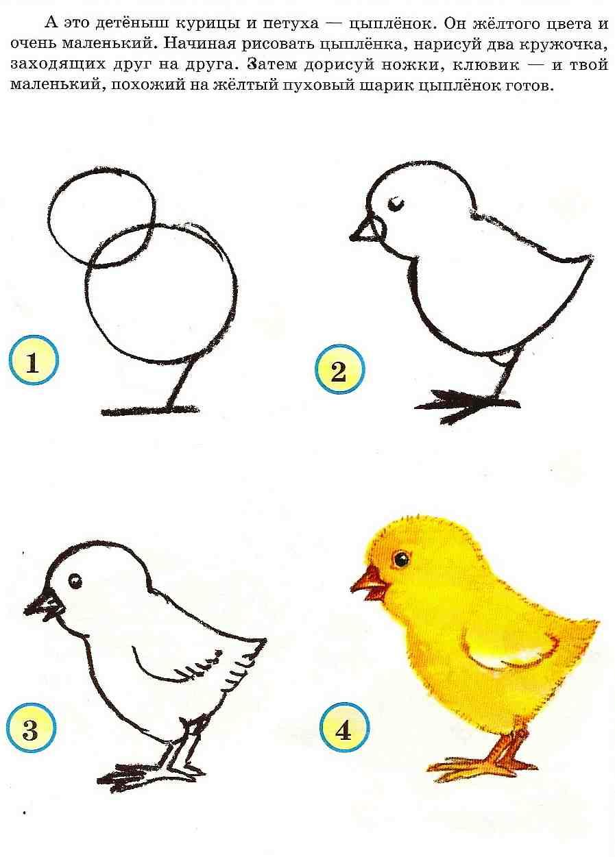 Как рисовать для детей схемы