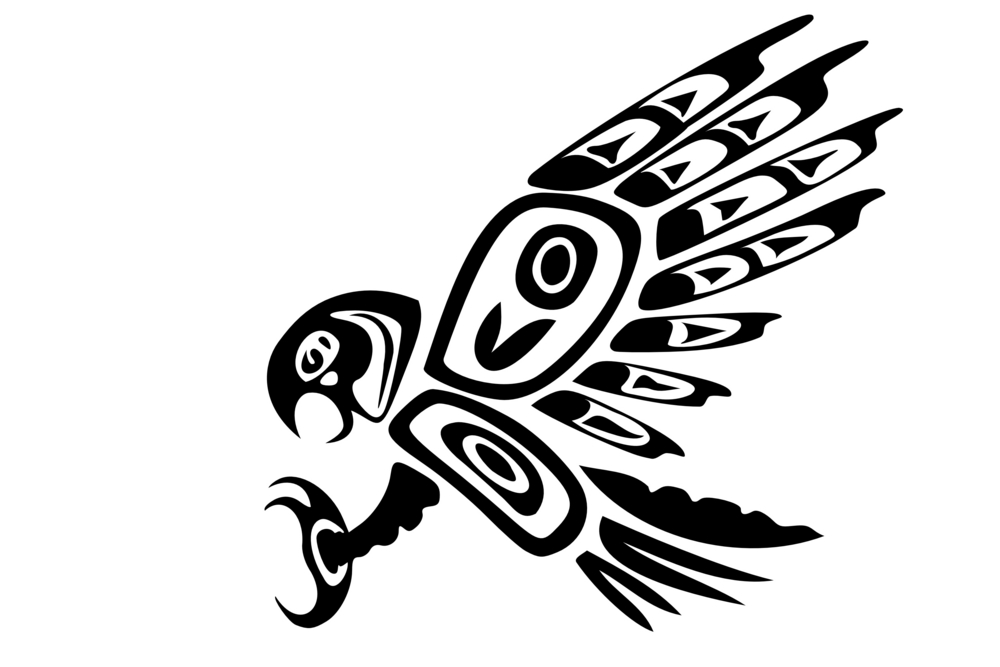 Tribal Eagle Animal Tattoos Design On Arm For Men