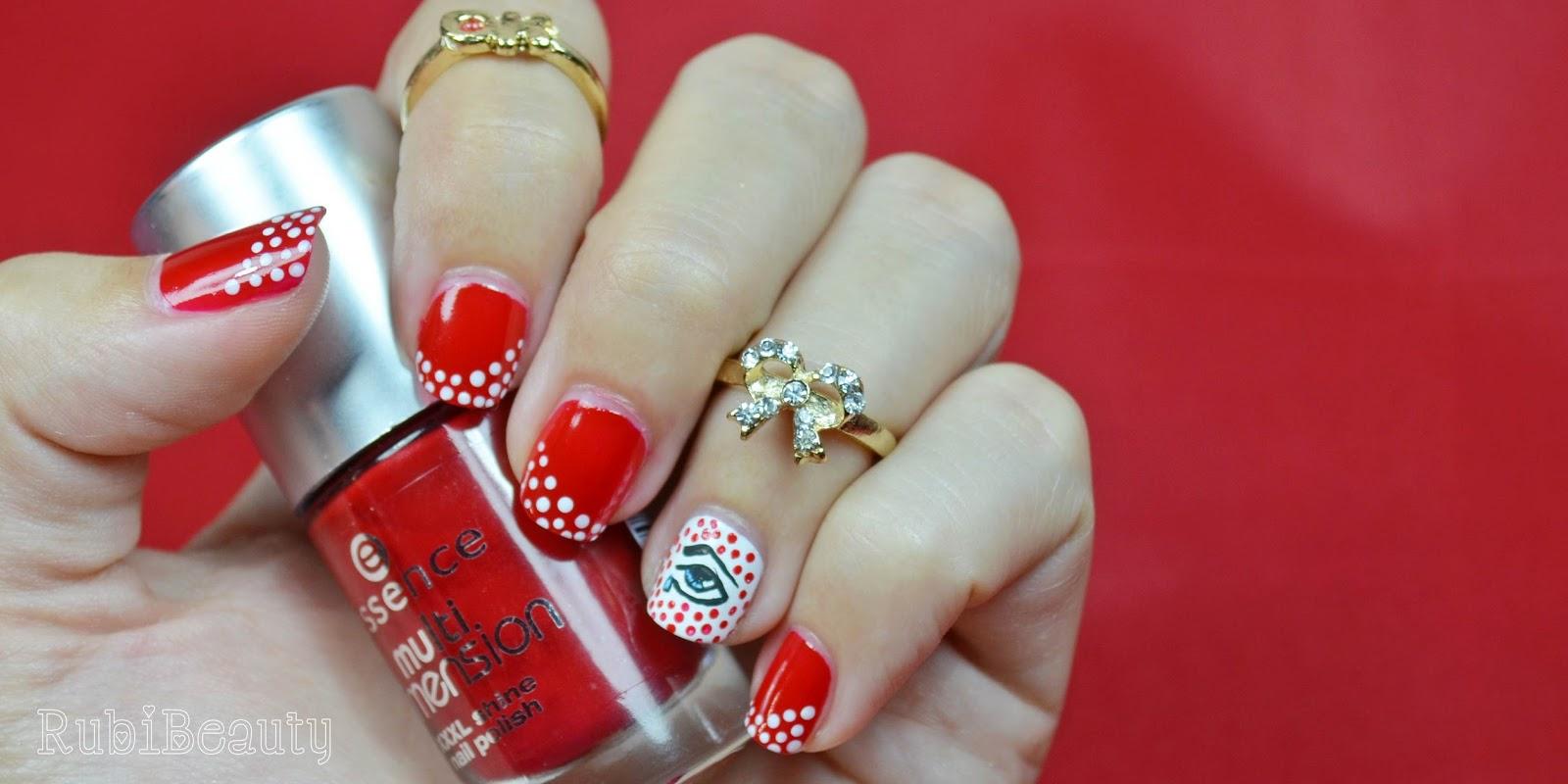 nail art diseños uñas puntos rojo red comic ojo horus it huelva