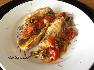 Filetti di pesce alla lampedusana ricetta di pesce con le gallinelle di mare