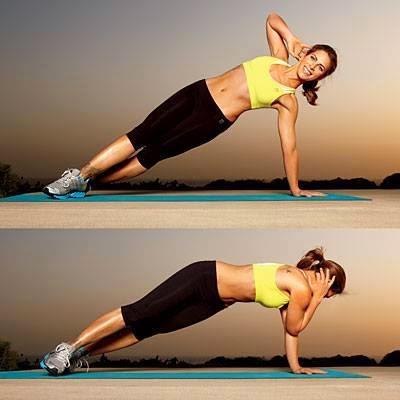 تمرين لتخسيس وشد عضلات الكتف والبطن والاجناب والذراعين