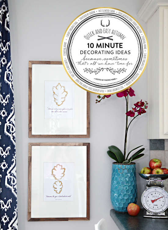 Diy Gold Leaf Wall Art : Iheart organizing minute fall decorating gold quot leaf