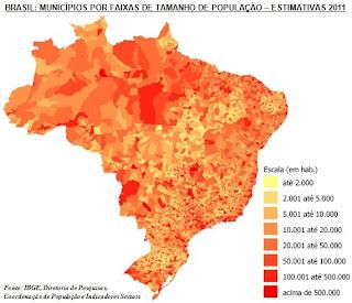 ESTIMATIVA POPULACIONAL IBGE 2011