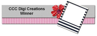 Winner at CCC Digi Creations Blog Challenge