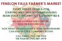 image Fenelon Falls Farmers Market pre-ooening poster