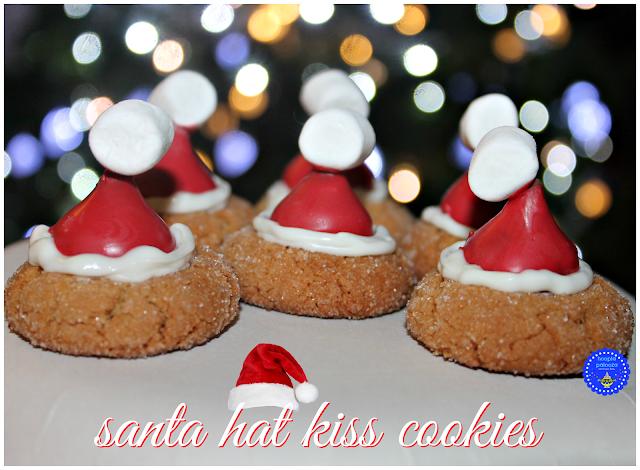 Hoopla Palooza Santa Hat Kiss Cookies