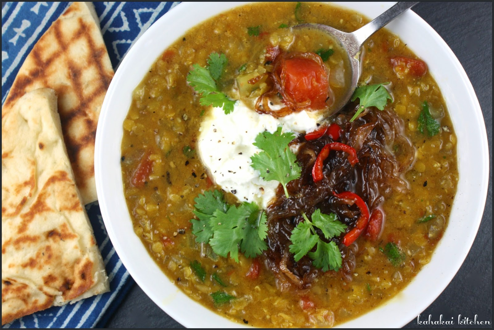 : (An Amazing) Moroccan Lentil Soup with Yogurt & Chilli-Fried Onions ...