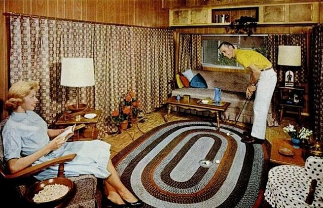Another Jovial Couple Entertain One In The Early American Living Room Of Their New 8 Wide Rig This Case Area Is Situated