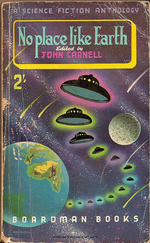 John Carnell No Place Like Earth awesome classic sci-fi book cover