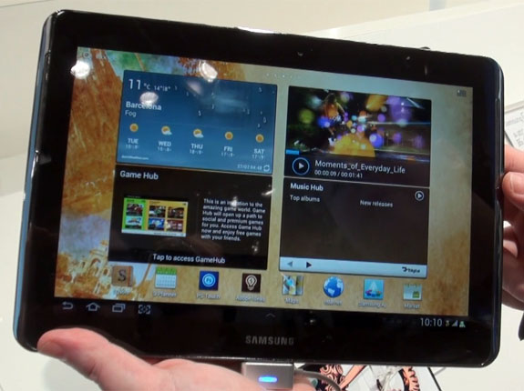 samsung galaxy tab hands on