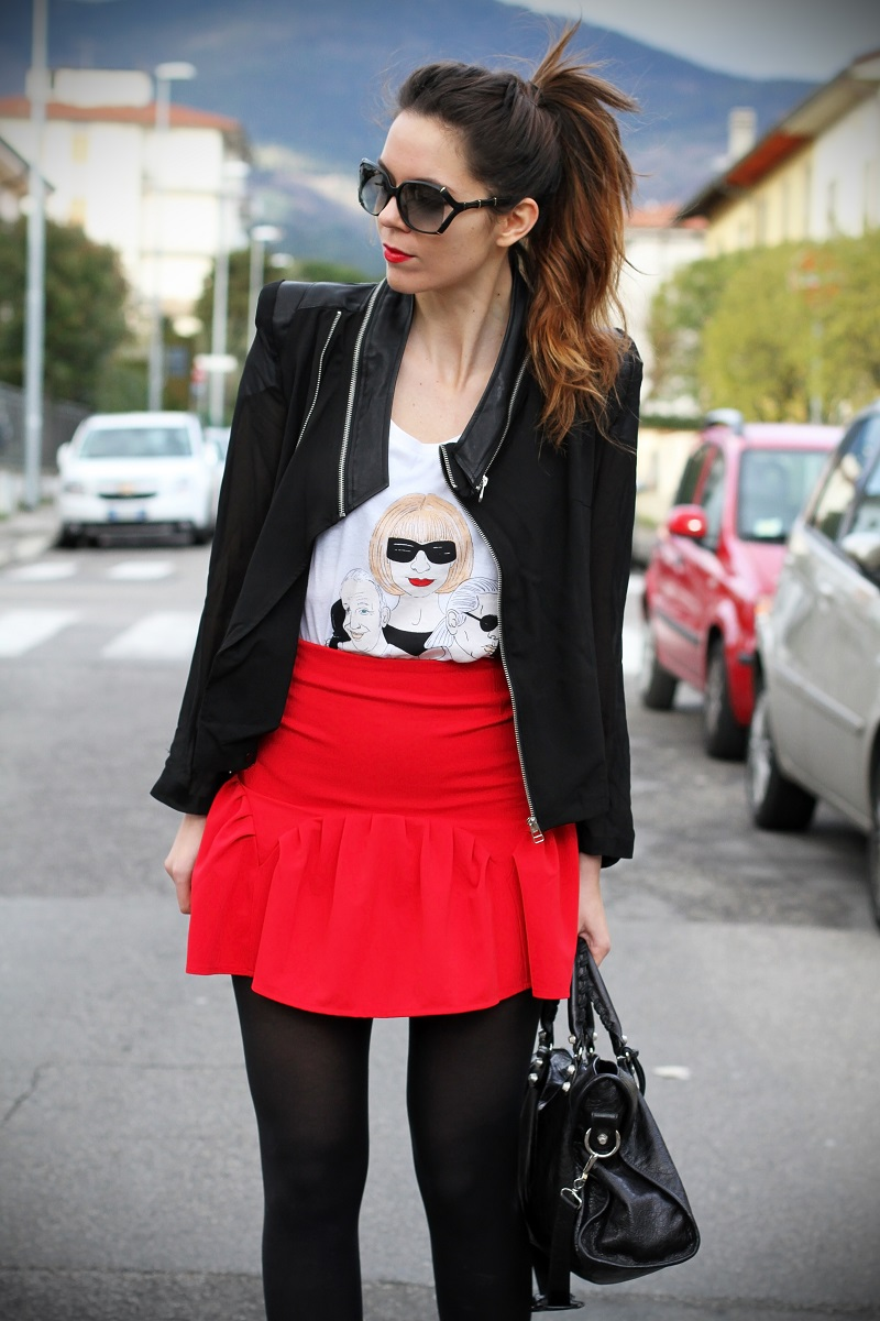 irene colzi fashion blogger outfit casual occhiali gucci gasmy balenciaga look streetstyle