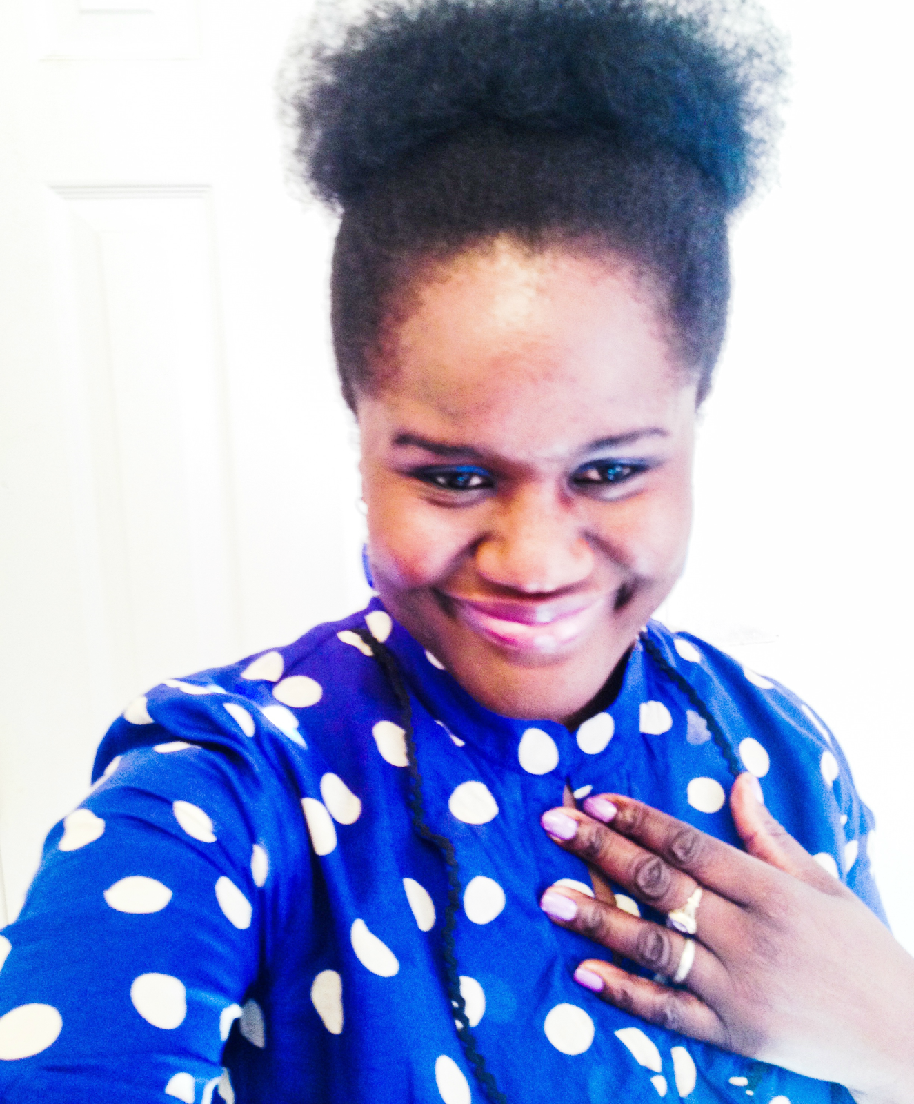 Outfit Of The Week: The eShakti Polka Dots Blouse