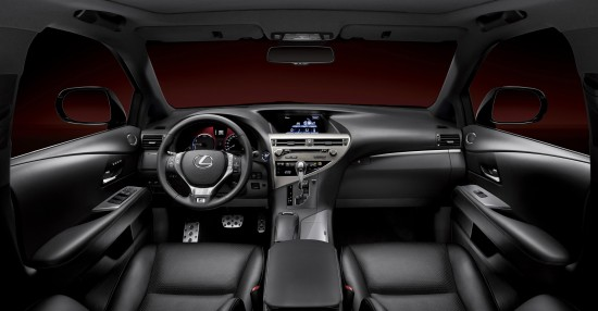 Interior view of 2013 Lexus RX 450h