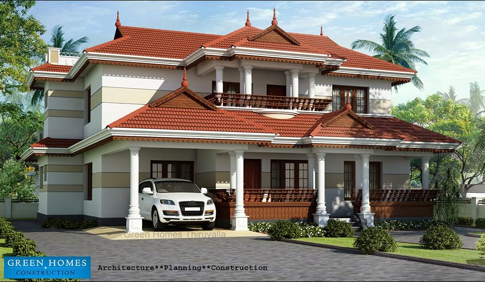 green homes traditional home design in kerala