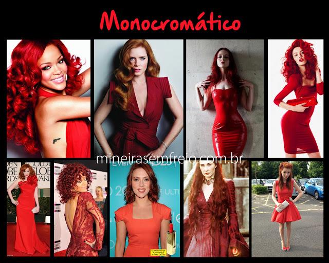 Combinando o cabelo vermelho com roupas vermelhas por Mineira sem Freio