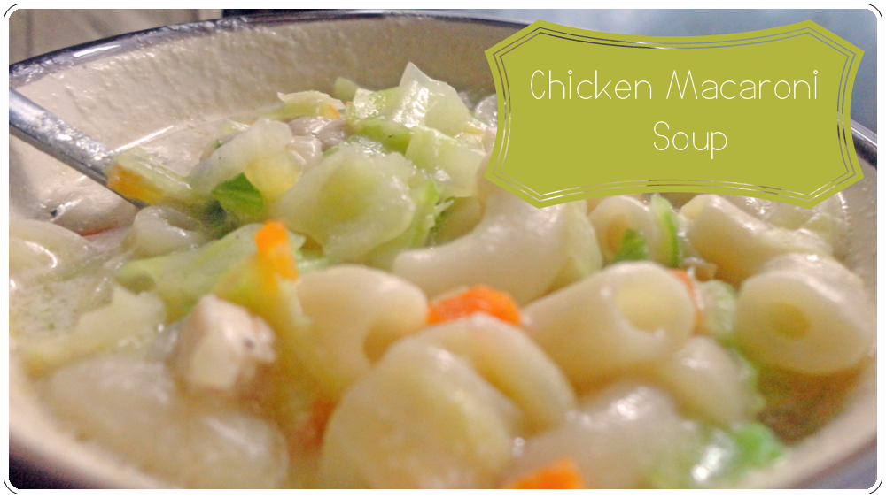 Chicken Macaroni Soup (Sopas)