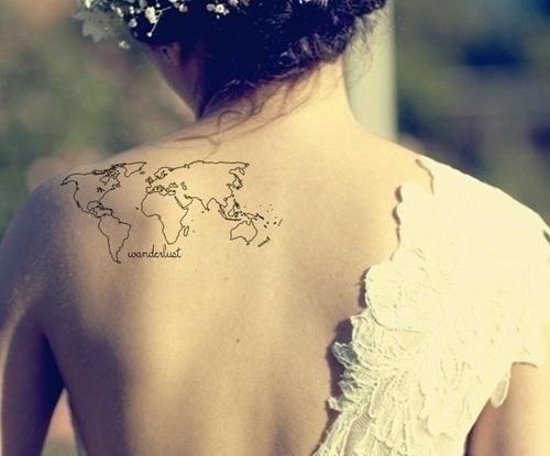 Dünya Haritası Dövmesi