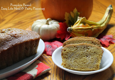 The Very Best Pumpkin Bread full of spices & moisture - Easy Life Meal & Party Planning