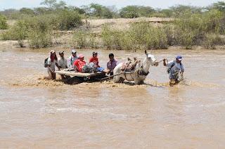 Lluvias incrementaron caudal del río La Leche, en Lambayeque.