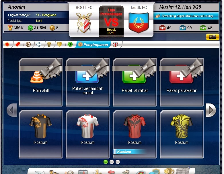 Tips Trik Top eleven ROOT FC Baju