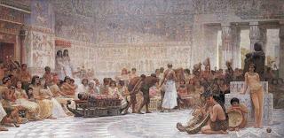 Μωυσής και Ακενατόν - An Egyptian Feast, Edwin Long