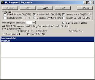 Cara Cepat Membobol Pasword ZIP