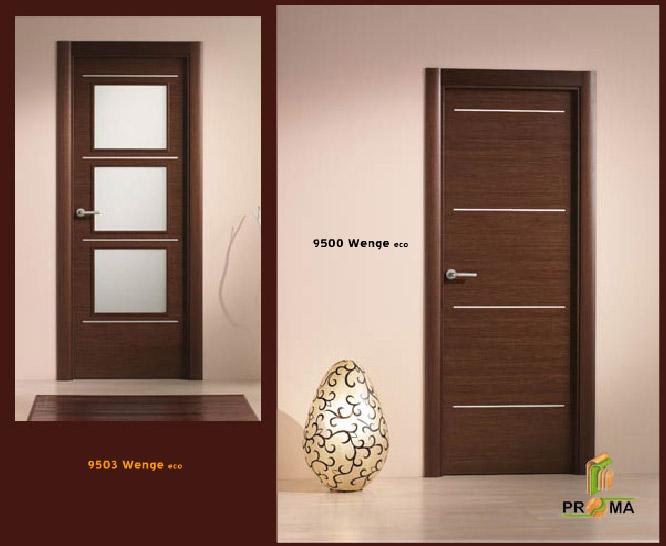 Puerta 9500 9503 en wenge eco de la serie vega puertas for Puertas de madera en oferta