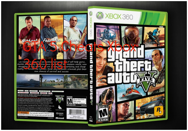 GTA 5 Cheats Codes Xbox 360 for Grand Theft Auto V