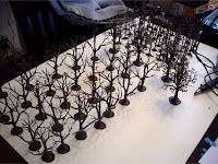 Woodland Scenics pine and deciduous tree armatures
