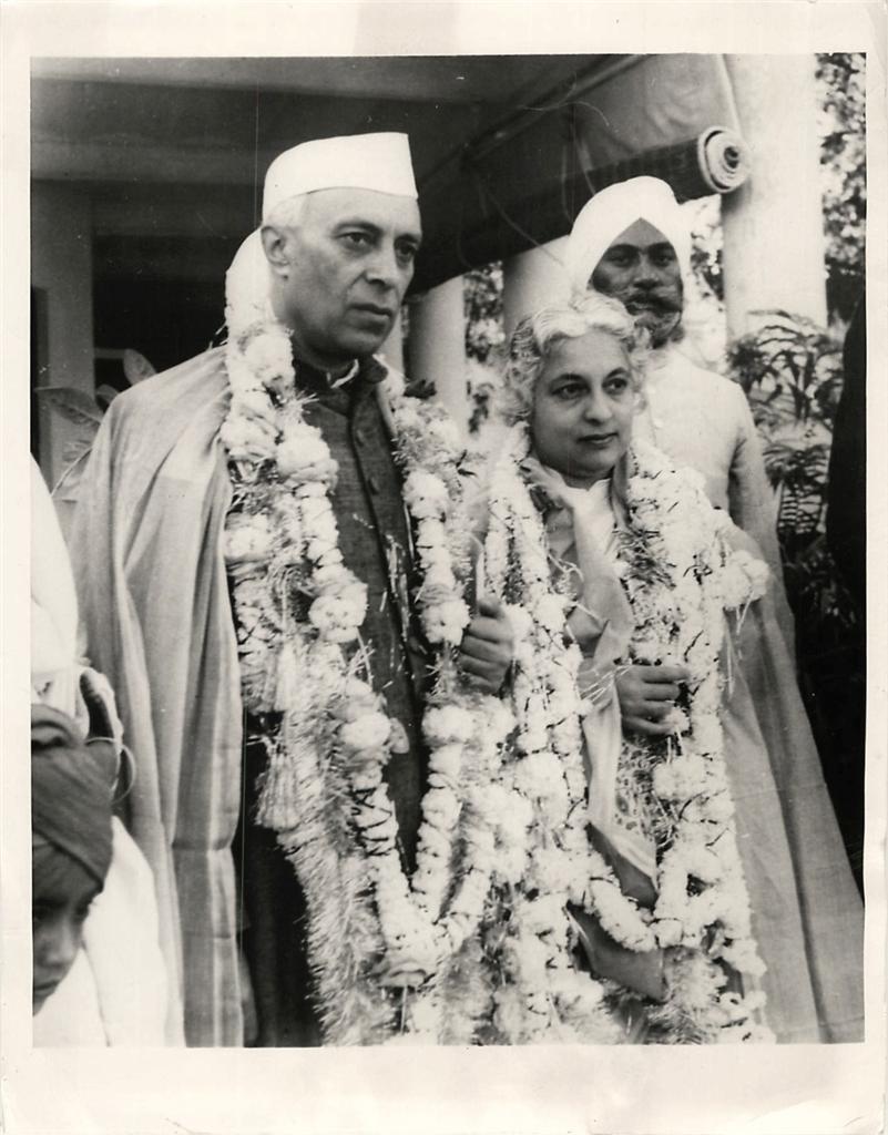 Jawaharlal Nehru and Vijaya Lakshmi Pandit