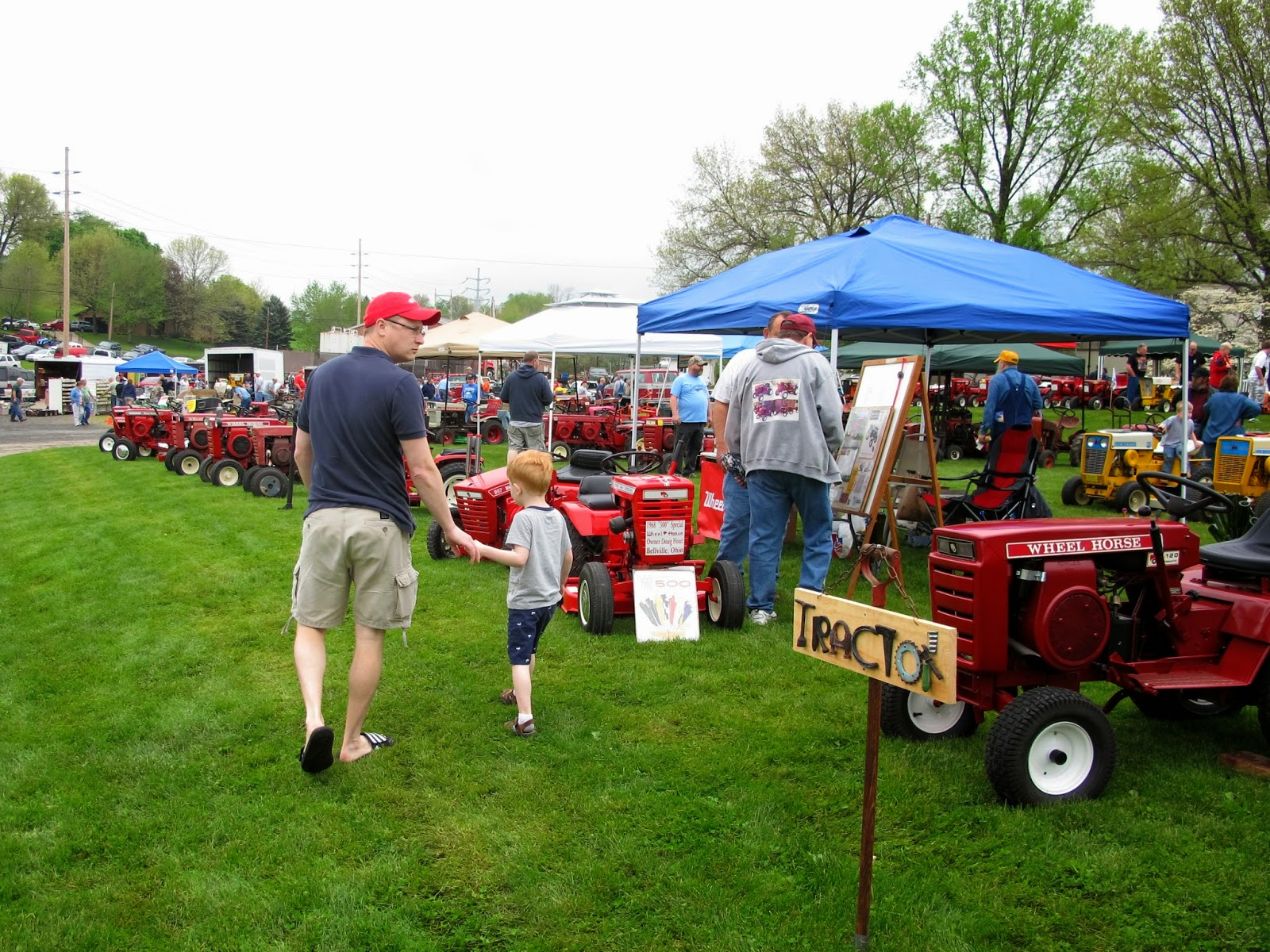 Daddy & Porter at the Vintage Tractor Show