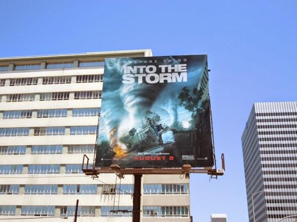 Into the Storm movie billboard