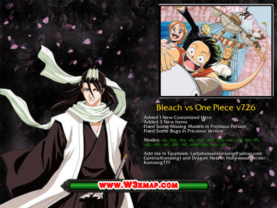 Map Bleach One Piece And
