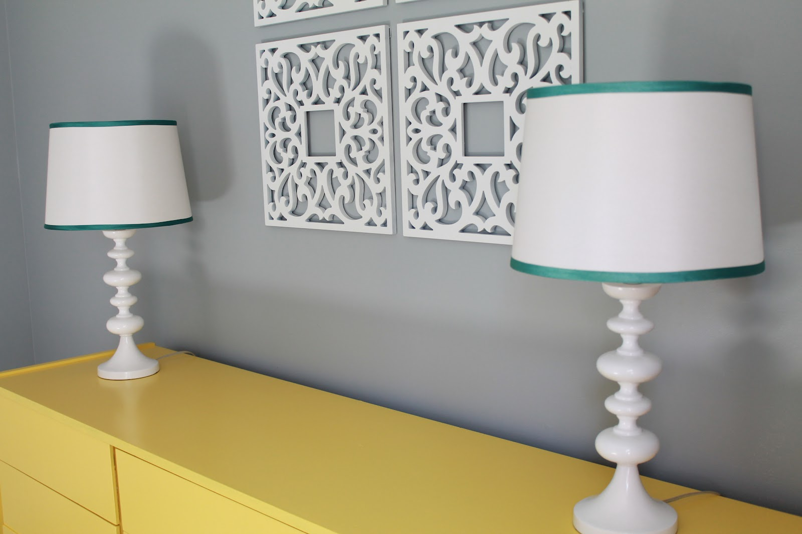 Gray and yellow playroom the reveal for Paint your room online sherwin williams