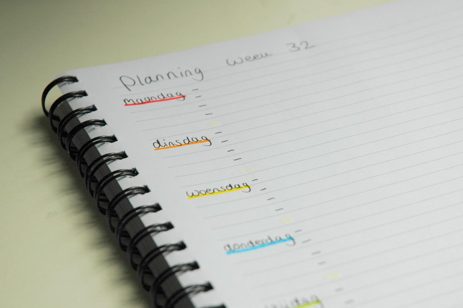 Back to school 1 zonder stress organiseren plannen for Planning maken