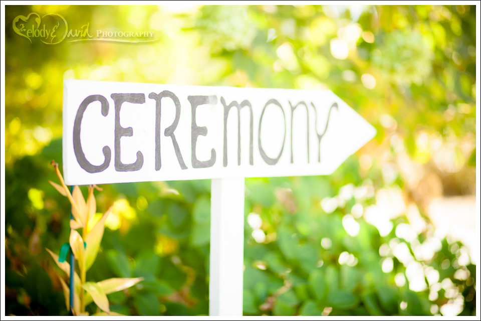 cute ceremony sign for wedding