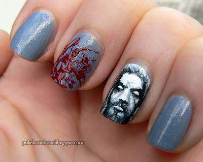 This Is Halloween Nail Art Challenge. Rob Zombies nails.