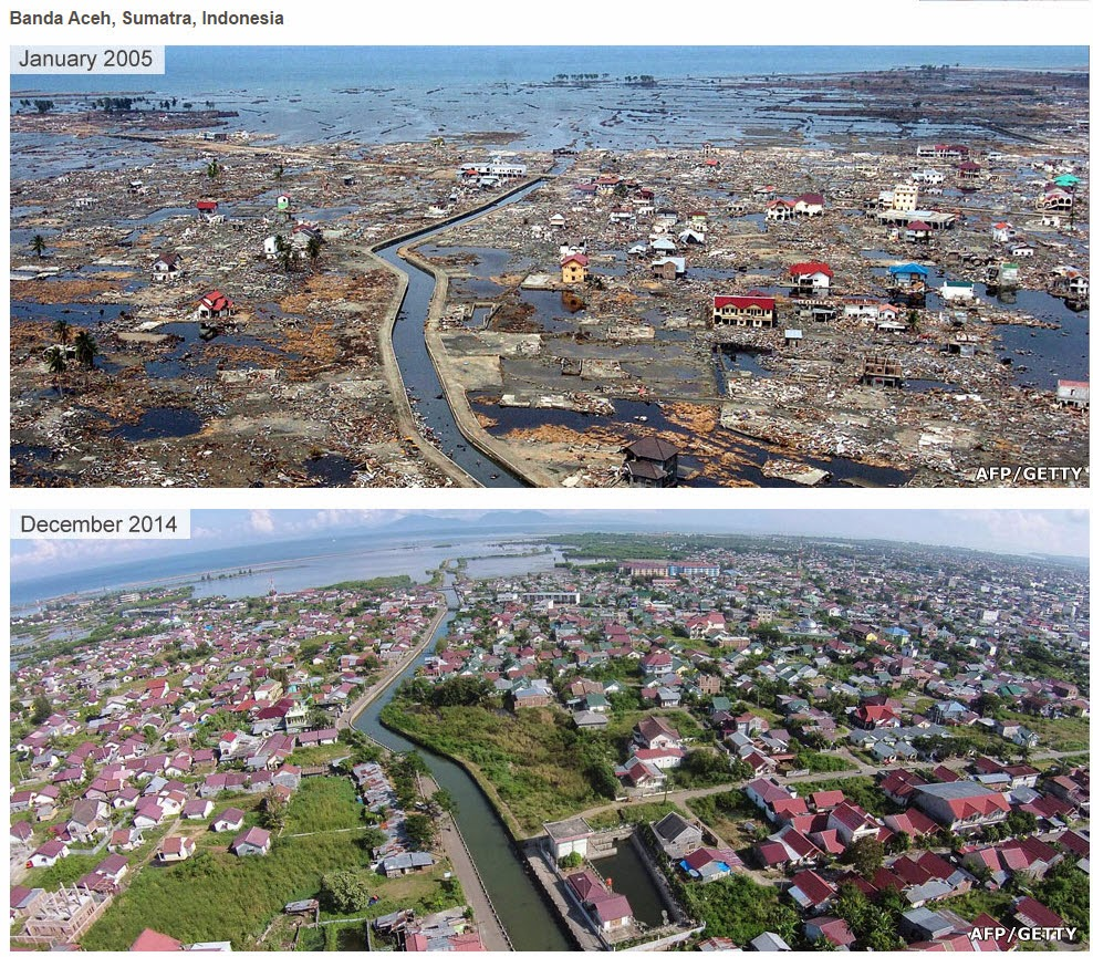 tsunami survivor stories before and after picture of banda ache