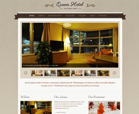 Queen Hotel - WordPress Theme for Hotel