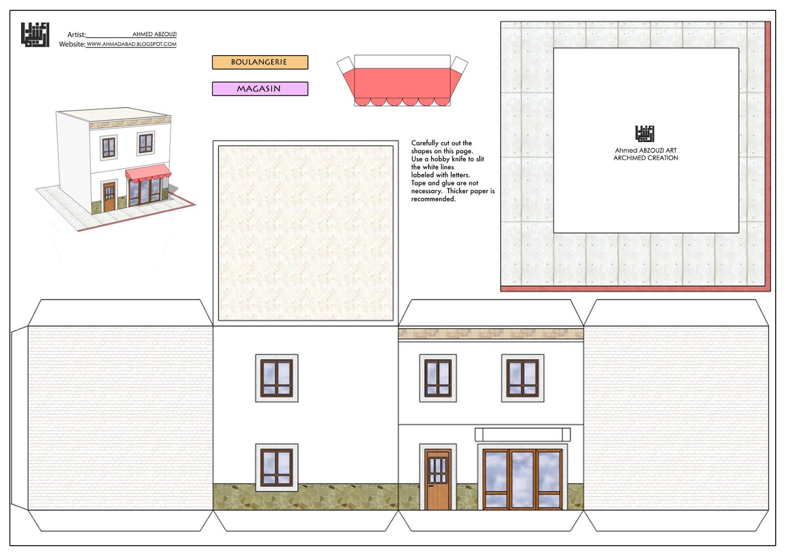 Maquette maison a decouper - Maison en papier a imprimer ...