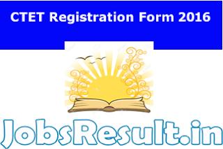 CTET Registration Form 2016